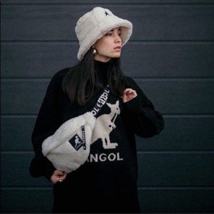 KANGOL x H&M Faux Shearling Belt Bag